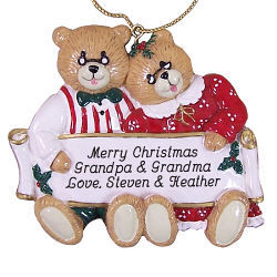Grandparents Personalized Christmas Ornament