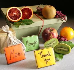 Thank You Fruit and Cookies Hamper