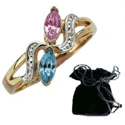 Birthstone Couples Ring