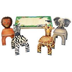 Animal Safari Table and Chair Set