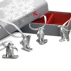 Sporty Penguin Ornament Set
