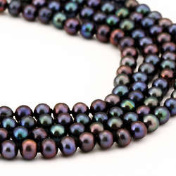 Black Cultured Pearl Necklace