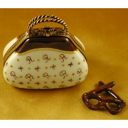 Handbag with Glasses Limoges Box