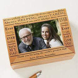 Definition of Dad Personalized Photo Keepsake Box