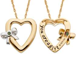 August Tied to You Birthstone Heart Necklace