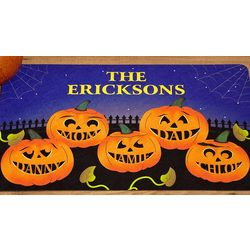 Personalized Pumpkin Family 17x27 Doormat