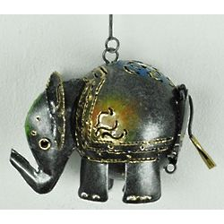 Metal Hanging Elephant Lantern