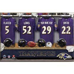 Personalized Baltimore Ravens Football Locker Room 24x36 Canvas