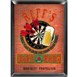 Dart Board Personalized Framed Pub Sign