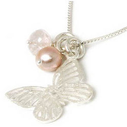 Butterfly Moons Cultured Pearl Necklace