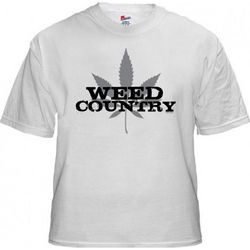 Weed Country Logo White T-Shirt