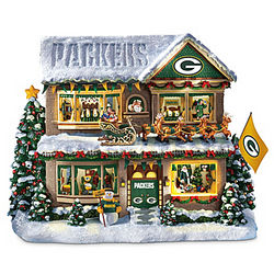 Green Bay Packers Illuminated Talking Christmas Story House