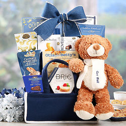 Get Well Bear and Sweets Gift Basket