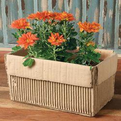 Ceramic Rectangle Cardboard Box Planter