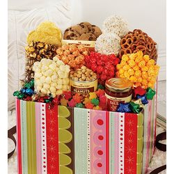 Striped Jumbo Snack Gift Box