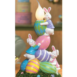 Bunnies and Eggs Candle Lamp