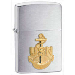 Navy Anchor Zippo Lighter