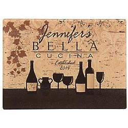 Brown Bella Cucina Glass Cutting Board