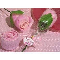 Pink Rose Towel Party Favor