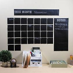 Self-Adhesive Chalkboard Dry Erase Calendar