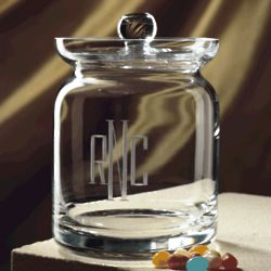 Heritage Crystal Biscuit Barrel