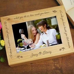 Friendship Who You Have Beside You Photo Keepsake Box