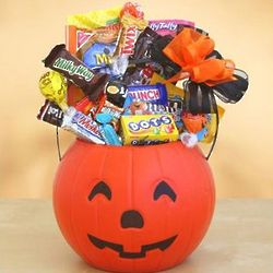 Pumpkin Pail of Halloween Treats