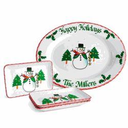 Personalized Snowman Celebration Platter