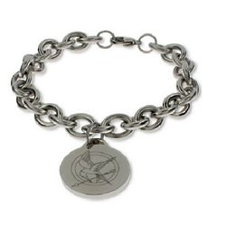 Hunger Games Inspired Engraved Mockingjay Bracelet
