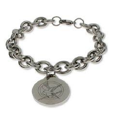 Hunger Games Inspired Engraved Mockingjay Bracelet