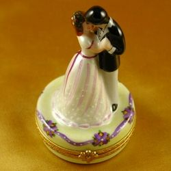 Dancing Bride & Groom Limoges Box