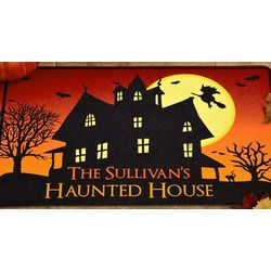 Personalized Haunted House 17x27 Doormat