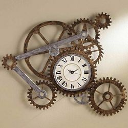 Gear Wall Art and Clock