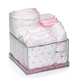 Pink Hearts Deluxe Layette Set