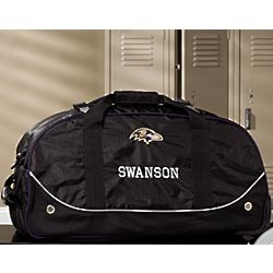Personalized Baltimore Ravens Rolling Duffel Bags