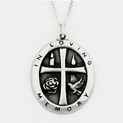 In Loving Memory Sterling Silver Pendant