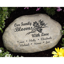 Our Family Blooms with Love Personalized Garden Stone