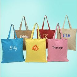 Personalized Reversible Canvas Tote Bag