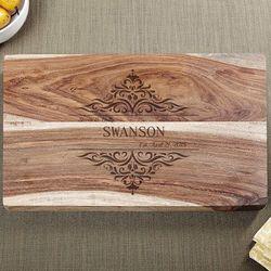 Family Home Sheesham Custom Cutting Board