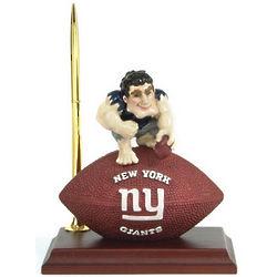 New York Giants Mascot Desk Clock and Pen Set