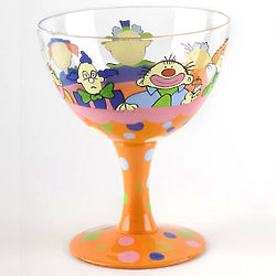 Clown Hand Painted Ice Cream Sundae Bowl