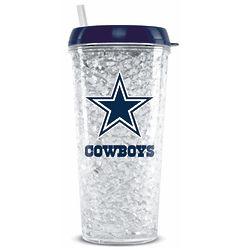 Dallas Cowboys 16 Ounce Crystal Freezer Tumbler