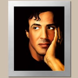 Sylvester Stallone Limited Edition Pop Art Fine Art Print