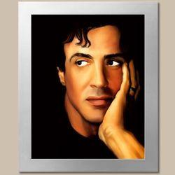 Sylvester Stallone Pop Art Print