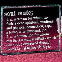 Soul Mate Glass Block