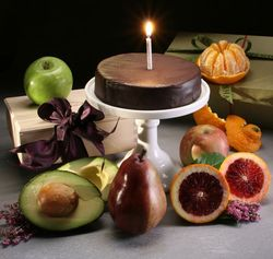 Birthday Fruit and Sweets Gift Hamper