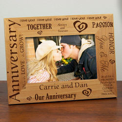 Personalized Anniversary Picture Frame