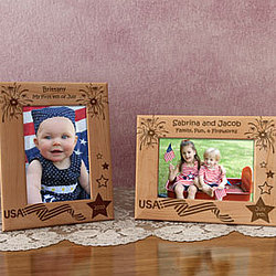 Personalized Fourth of July Wooden Picture Frame