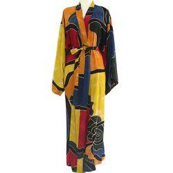 Women's Paradise Peacock Batik Robe