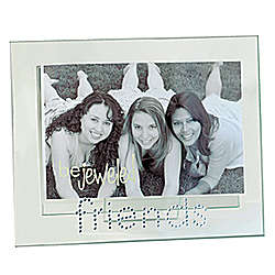 Jeweled Friends Glass Picture Frame